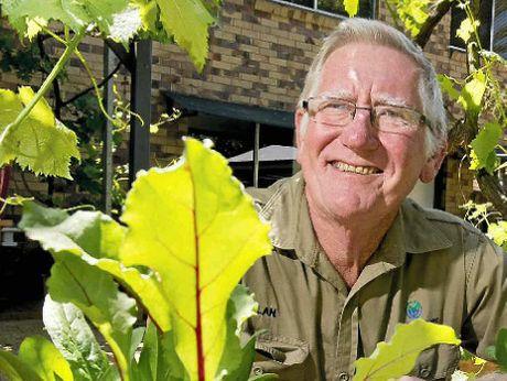 Gardener Alan Singleton.