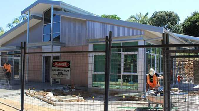 Kingscliff TAFE's upgrade is underway. It includes a new student support centre. Photo: Supplied
