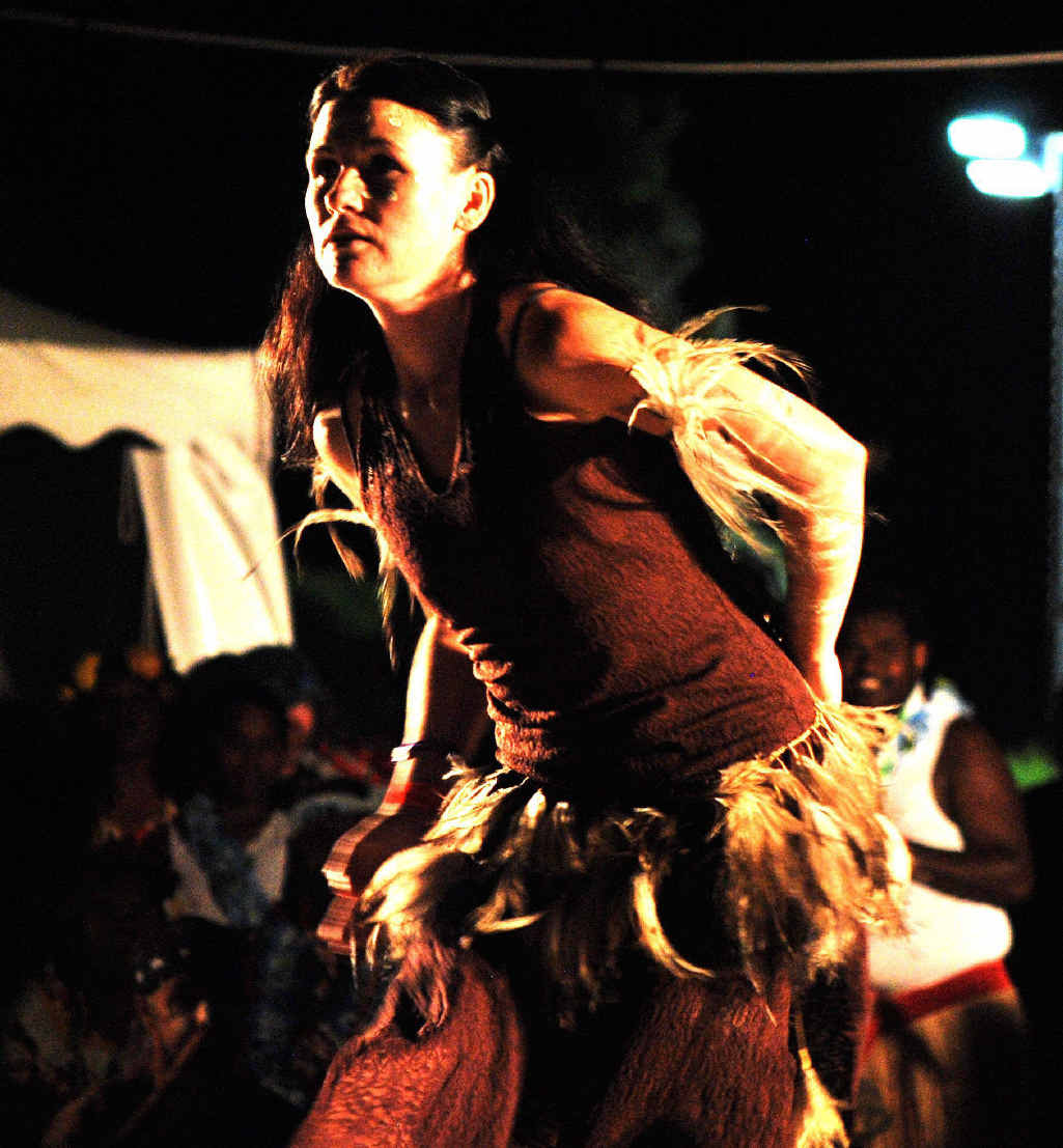 AMAZING NIGHT: Performer at the opening ceremony of the Boomerang Festival at Tyagarah on Friday night.