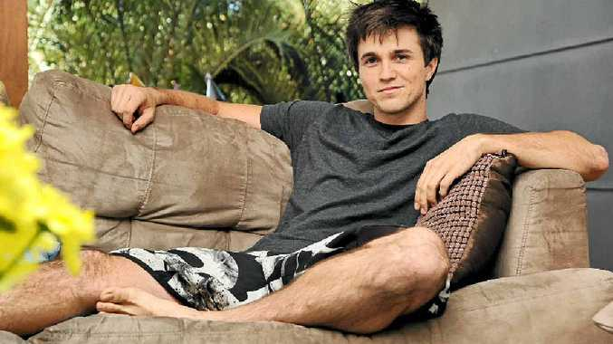 Sunshine Coast actor Leigh Parker, at his parents' home in Twin Waters, is based in Hollywood and has had TV and movie roles.
