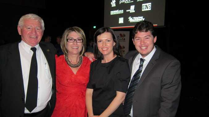 Enjoying the NSW Country and Provincial Racing Awards dinner in Sydney last Friday night are from left: CRJC Chairman Graeme Green, Cathy Meaney of Randwick, Lesley Apps and Matthew McInerney from The Daily Examiner.