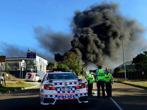 Fire crews battle fierce chemical blaze in Carole Park
