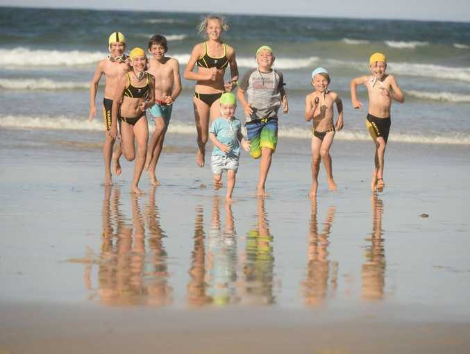 Members big and small of the Yamba SLSC nippers get ready for their upcoming season.Photo Adam Hourigan / The Daily Examiner