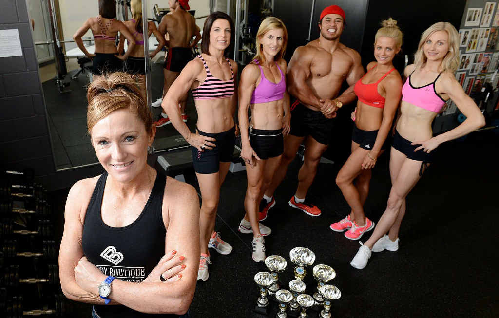 PUMPING IRON: Local body-sculpting trainer and owner of Body Boutique, Marian Leonard with (from left) Rachel Green, Megan Axelsen, Levaopolo Bruce Lauano, Prudence McEniery and Rebecca Hamer.