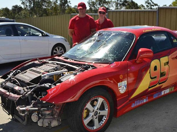 BAD SHAPE David and Tammy Mcalister with their custom made Lightning McQueen vehicle after the & Lightning McQueen is Ipswichu0027s car with a conscience | Queensland ... azcodes.com