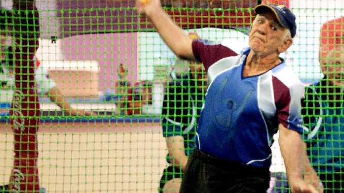 Indoor cricket veteran Wally Anderson, 79, was the oldest player at the Indoor Cricket Zone Tournament.