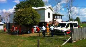 Emergency crews responded quickly after a car crashed into a house on Lawrence Rd, Southgate.
