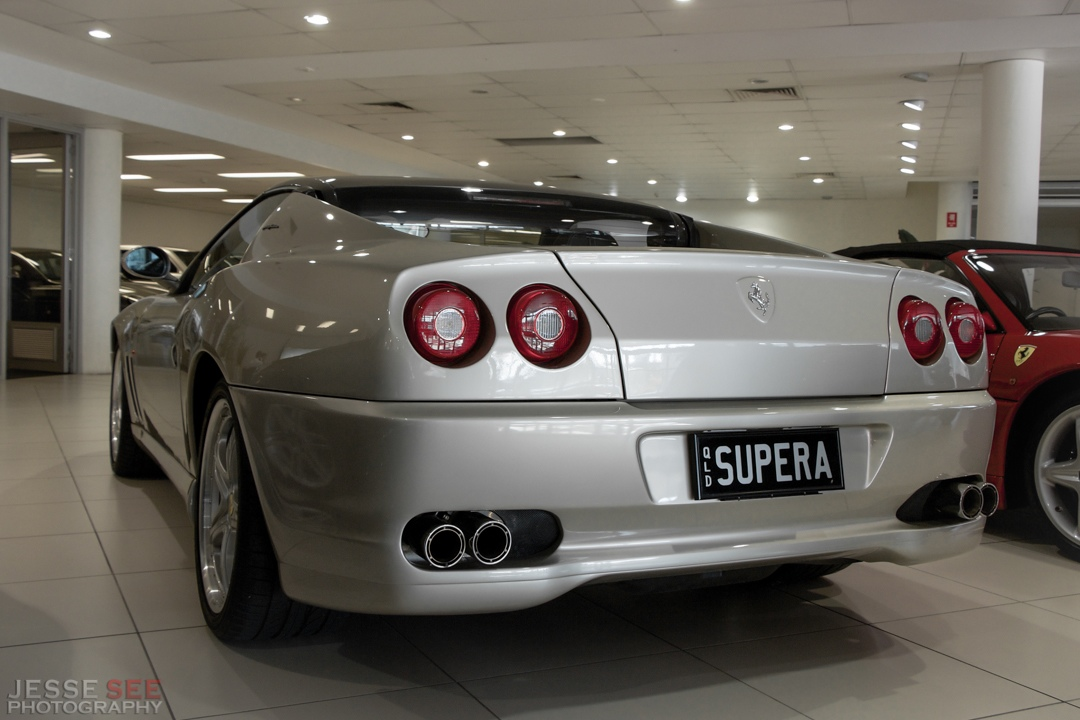 The 2005 Ferrari 575 Superamerica.