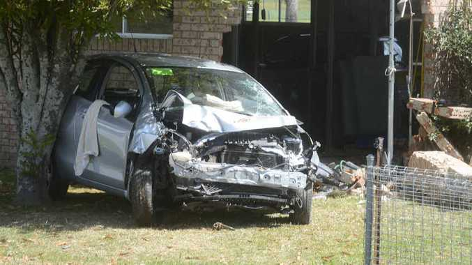 HOUSE BREAK: A car crashed into a Lawrence Rd house.