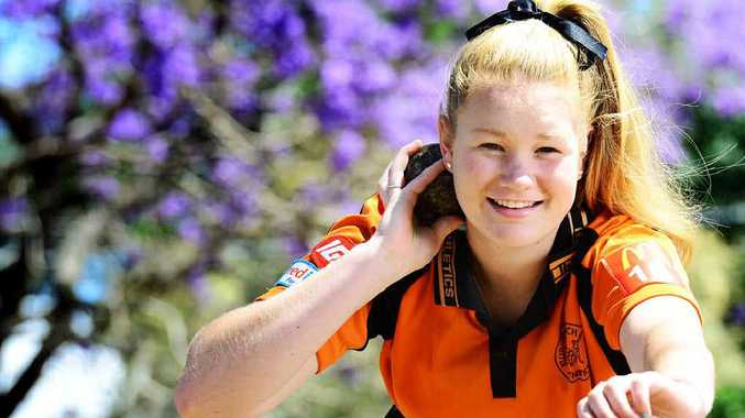 NEW ZEALAND-BOUND: Tori Langton, 15, of Ipswich Little Athletics has been chosen to go to New Zealand as part of a Queensland development tour.