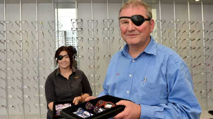 Westfund Eyecare optical dispenser Kristy-Lee Heath and optometrist Graham Chuck will be wearing eye patches today and collecting donations for World Sight Day.