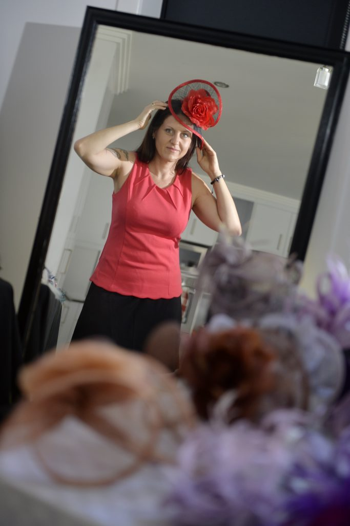 Vicki Patterson from All That Glitters stocks fascinators in a range of colours and styles.