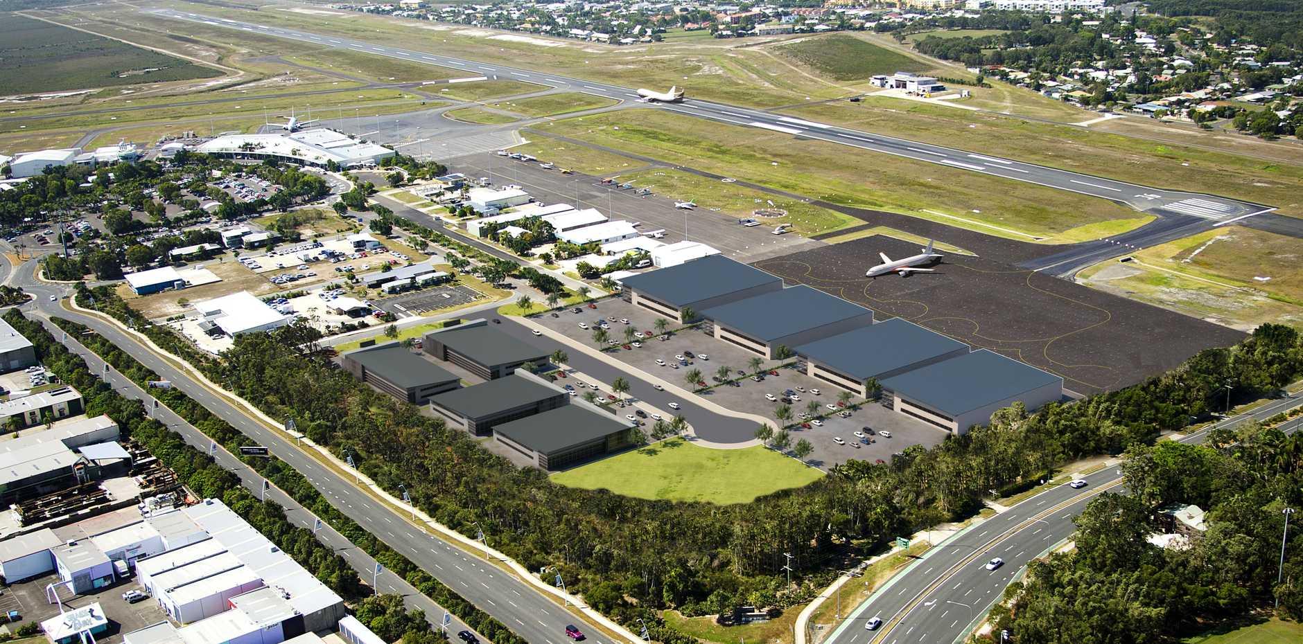 Artist's impression of Sunshine Coast Aerospace Precinct (SCAP).