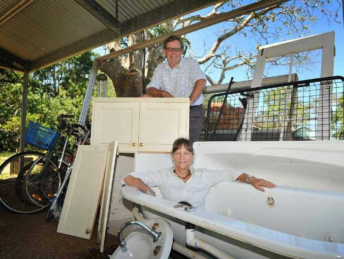 KEEN SELLERS: Andrew and Belinda Burnet of Dalwood, will take part in Second Hand Saturday.