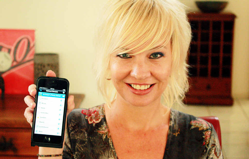 LINKING PARENTS AND SCHOOLS: Melissa Bridson of Suffolk Park with her new School Stream app.