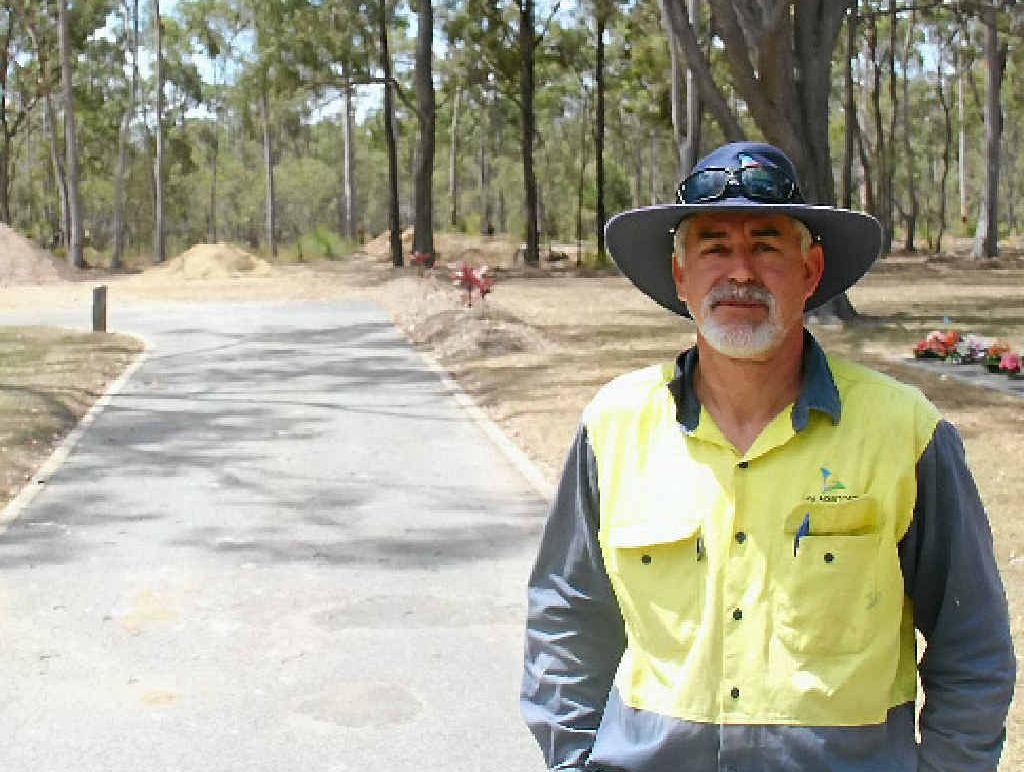 DEVELOPMENT: Gladstone Regional Council park services co-ordinator Robbie Webb manages the Port Curtis cemetery, which is being expanded.
