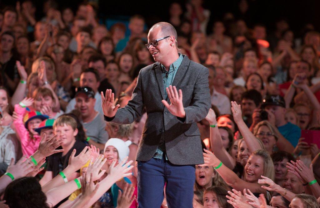 Big Brother 2013 evictee Ben Zabel greets fans at Dreamworld.