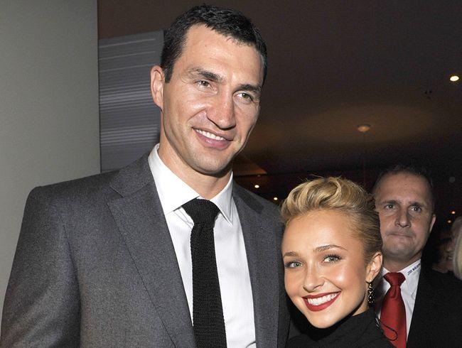 Hayden Panettiere and fiance Wladimir Klitschko.