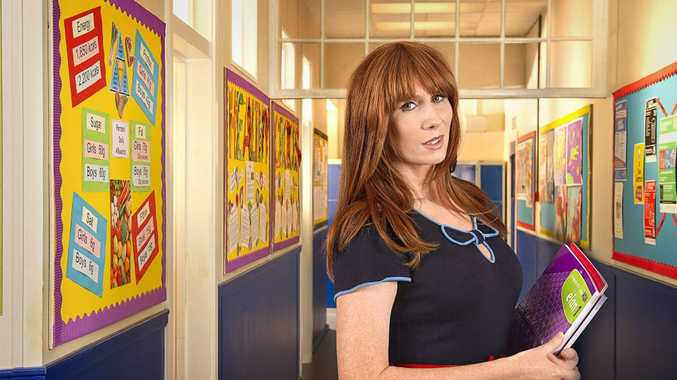 Catherine Tate in a scene from the TV series Big School. Supplied by Channel 9/WIN. Please credit photo to Des Willie/BBC.