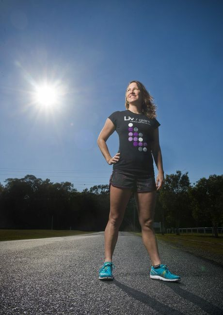 Professional triathlete Elly Franks - back in her home town of Yamba for the Yamba Triathlon. Photo Adam Hourigan / The Daily Examiner