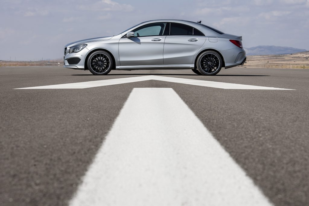 The Mercedes-Benz CLA.