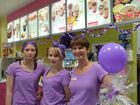 PURPLE HAZE: Marian Petersen, Cheyne Parsons and Ashleigh Weitzel went all out at Wendy's.