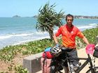 LONE RIDER: Jeremy Scott is raising money for the Heart Foundation with a 50,000km, two-and-a-half year bike ride across the globe. PHOTO: KATHLEEN CALDERWOOD, ROK101013KJEREMY02