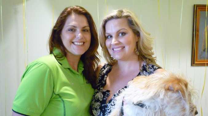 Limelight Pet Salon owner Jen Baines, left, and Jade Conlon with CeCe.