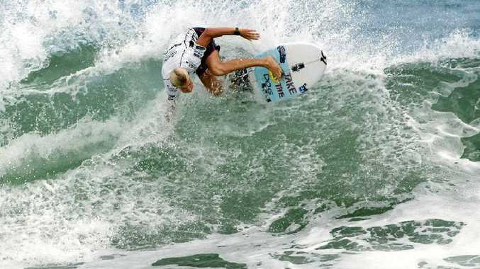 RISING STAR: The Coast's Kai Hing goes for broke at the ISA World Junior Championships in Nicaragua earlier this year.