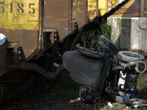 Heroes rescued woman in wheelchair stuck on railway track