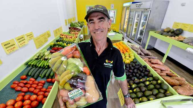 FRESH FACE: Mark Saunders of Northside Fruit and Vegies in the new store in Fitzroy St, Grafton. Photo: Adam Hourigan