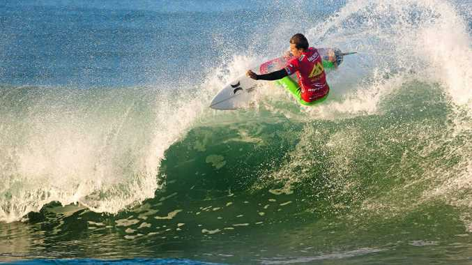 AT THE TOP OF HIS GAME: Julian Wilson gets down to business in his opening heat at the Ripcurl Pro Portugal.