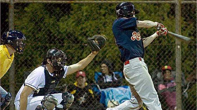 ON STRIKE: Alex Groves batting for Toowoomba Rangers against Ipswich last Friday night.