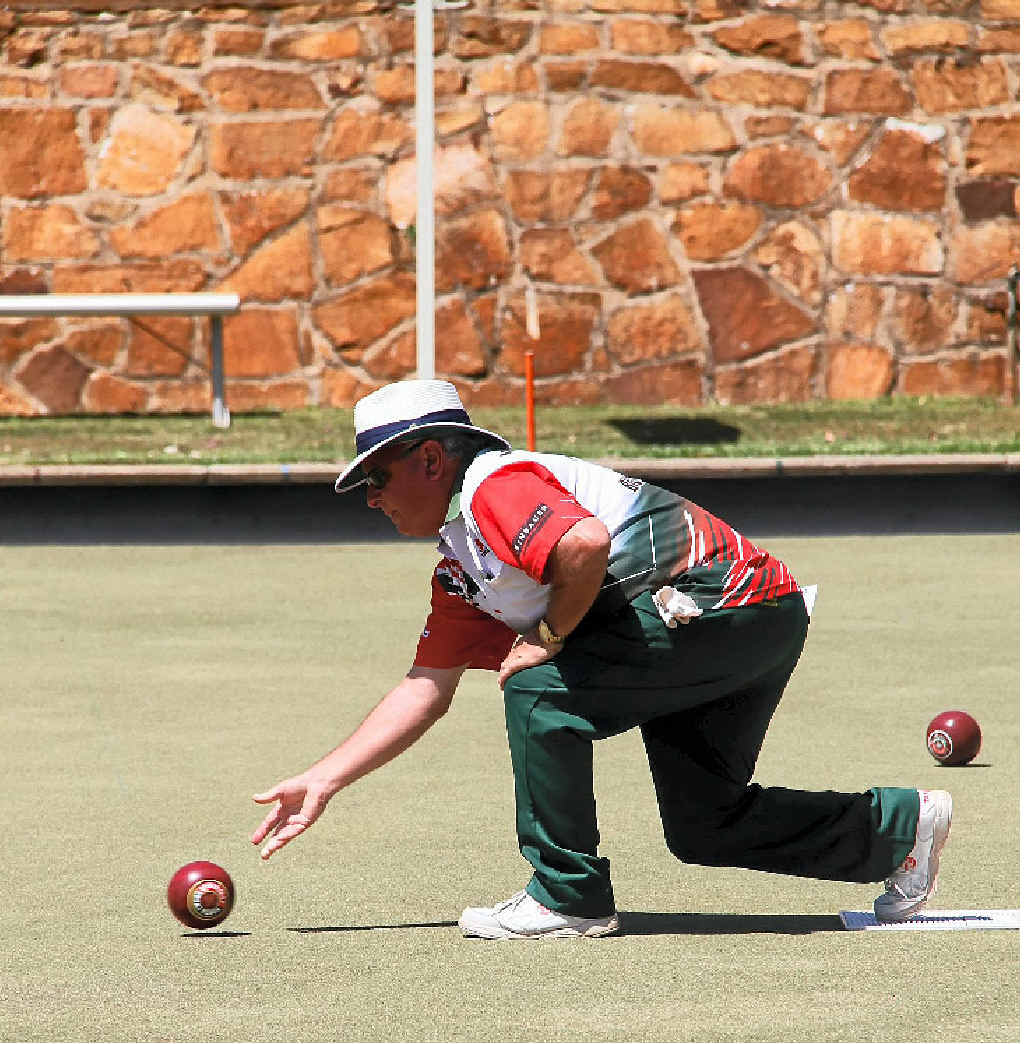 ROLLING STRONG: North Toowoomba's Norm Head will be in action at South Toowoomba Bowls Club this afternoon.