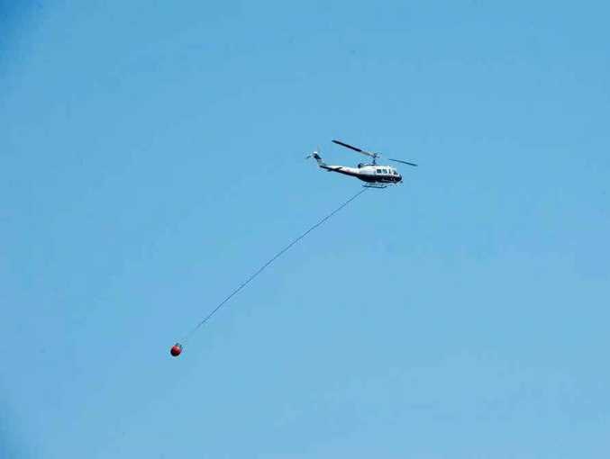 CHOPPER RESPONSE: Choppers worked hard battling fires.
