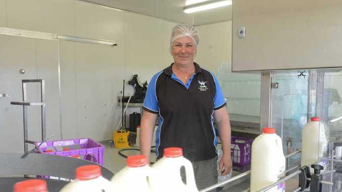 Jo Madden of Big River Milk in the bottling section.