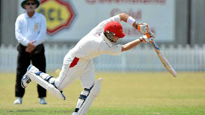TON OF MERIT: Sunshine Coast Scorchers skipper James Henry gets on the front foot yesterday againsts the Hornets.