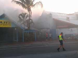 Mooloolaba Wharf fire