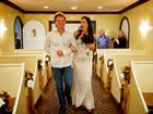 Jon Bon Jovi walks bride Branka Delic down the aisle in Las Vegas.