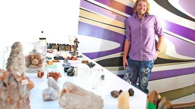 Brad Hopgood in his new Kingscliff Herb shop.