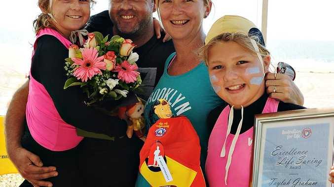Hayley Graham, 7,Todd Graham, Megan Graham, Taylah Graham, 10. Photo Michaela Harlow / Daily Mercury