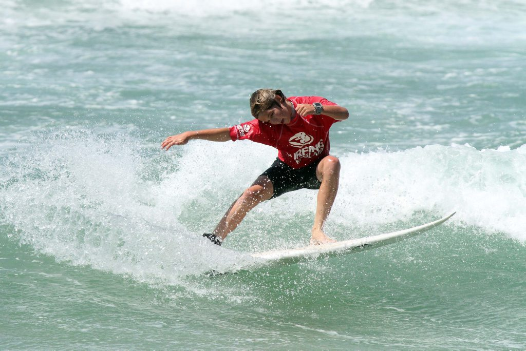 Jagger Bartholomew on his way to winning the State Title. Photo: Surfing Queensland