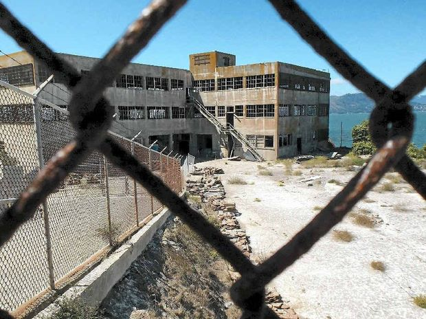 DESERTED PRISON: Like the many buildings on Alcatraz island, the only noise to be heard are the cries of the seagulls and the howl of the wind tearing through the abandoned structures.