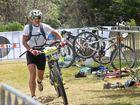 ON YA BIKE: Adventurethon Coffs Harbour winner Jarod Kohlar prepares for the mountain bike leg. Photo Leigh Jensen/ Coffs Coast Advocate