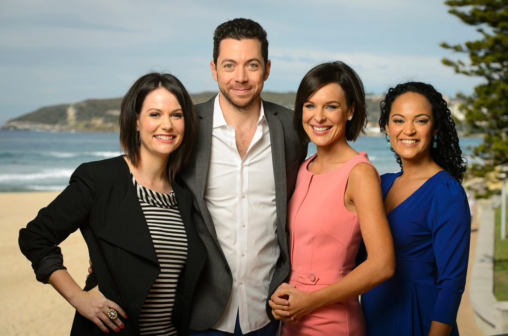 The cast of Channel 10's new breakfast show Wake Up, from left, Natasha Exelby, James Mathison, Natarsha Belling and Nuala Hafner.
