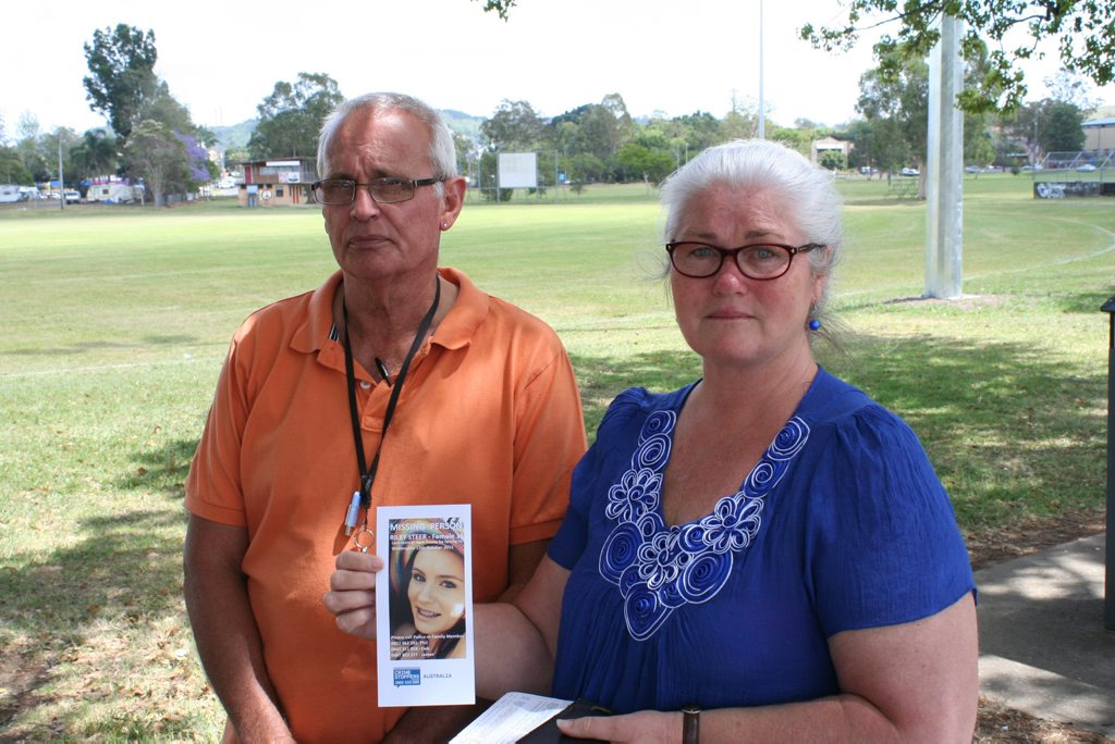 The parents of Wollongbar girl Riley Steer, 15, Phil Steer and Deb Byron.
