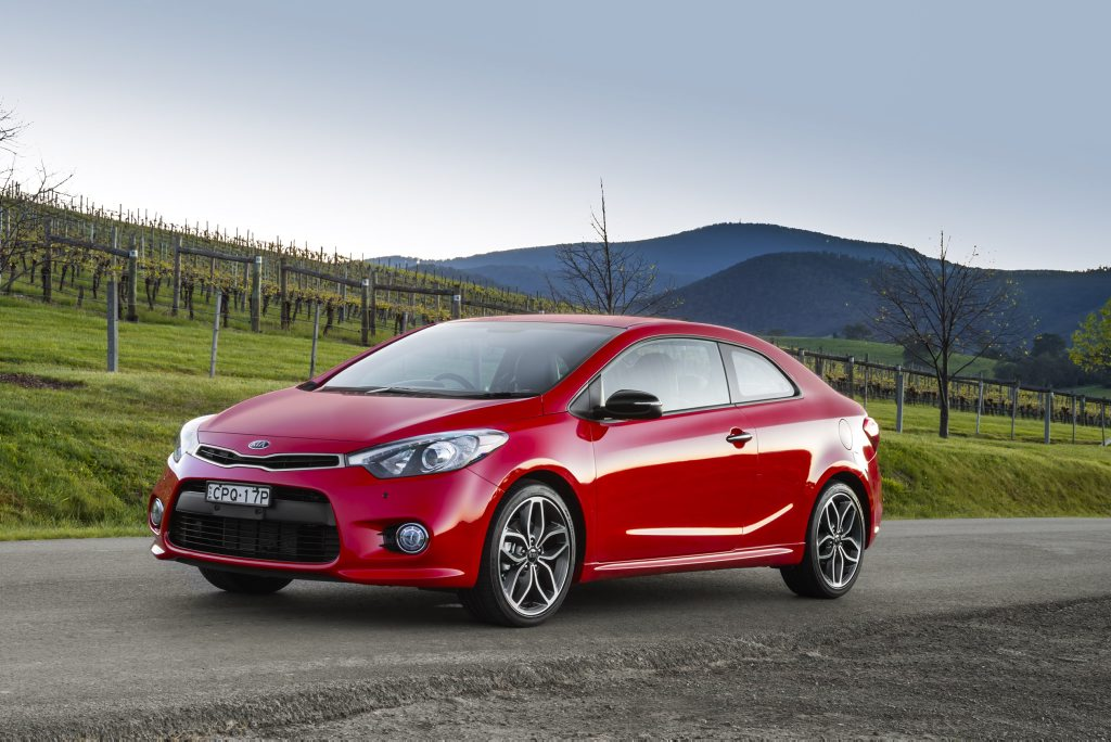 The new Kia Cerato Koup Turbo.