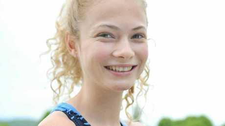 FIRST CLASS: Binna Burra runner Marlie Camption wins NSW All-Schools 800m race.