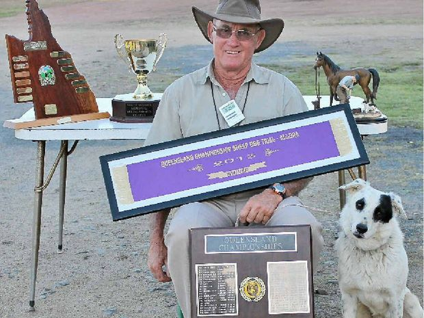 TIPPED TO WIN: Greg Prince of Dubbo NSW with Tippers Brigalow after winning the 2013 Queensland Open Sheepdog Championships.