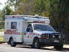 """The """"old"""" Ford ambulance sit outside the Gin Gin ambulance station waiting to be replaced by the new Mercedes Sprinter dual-stretcher. Photo Leah Kidd / NewsMail"""